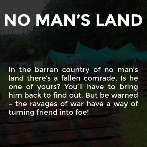 A fun description of the No Man's Land battleground at the Kilkenny Activity Centre.