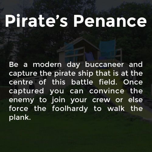 Description of Pirate's Penance battleground as follows; Be a modern day buccaneer and capture the pirate ship that is at the centre of this battle field. Once captured you can convince the enemy to join your crew or else force the foolhardy to walk the plank.