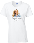 Hen Parties Kilkenny A hen party t-shirt with a picture of a young lady and the caption 'Amy' hen 2017.'