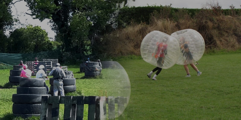 Kids Splatball, Bubble Football & Food Package