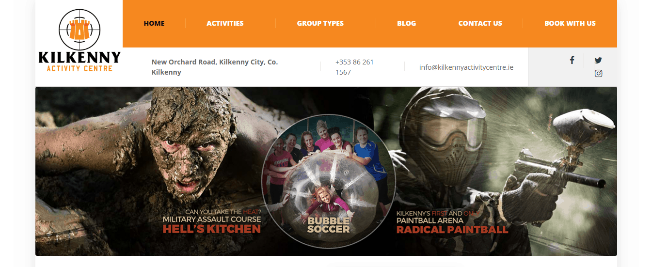 Kilkenny Activity Centre home page